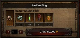 Can T Craft Hellfire Ring