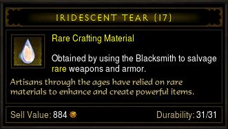 rare crafting marterial
